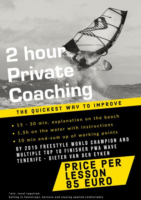 2 Hour Private Coaching by Dieter van der Eyken